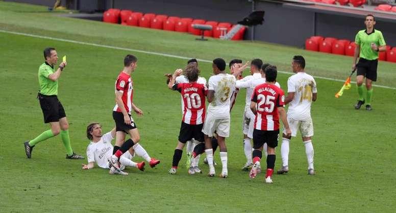 El Athletic sueña con la final, pero deberá superar al Madrid. EFE/Luis Tejido./Archivo