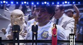 Homenaje para Maradona y Rossi. EFE