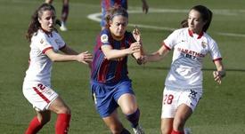 El Barça le endosó un 6-0 al Sevilla. EFE