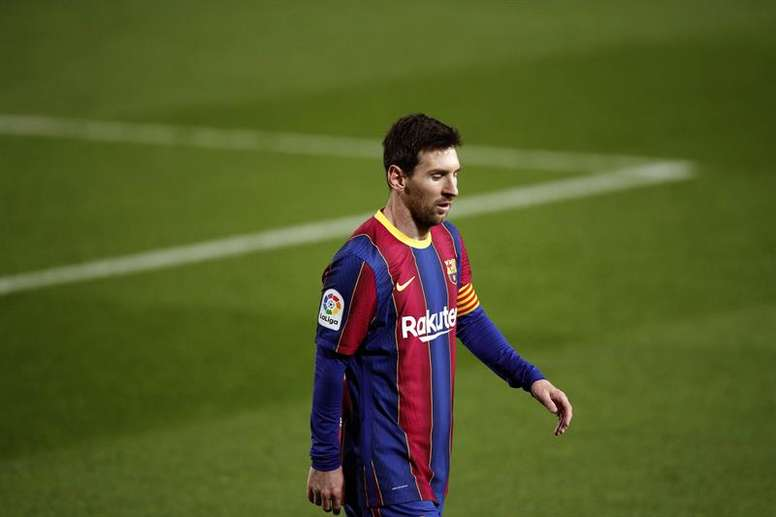Messi may not play for Barca against Real Sociedad in the Super Cup SF. EFE