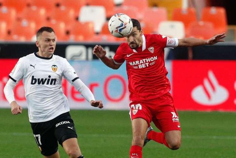 Jesús Navas está listo para enfrentarse al Atleti. EFE