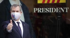 As propostas e as visões do candidato à presidência do Barça, Rousaud. EFE/Alejandro Garcia