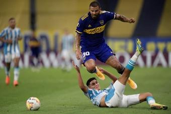 Cardona pidió la palabra y se disculpó por borrarse ante Atlético Mineiro. EFE