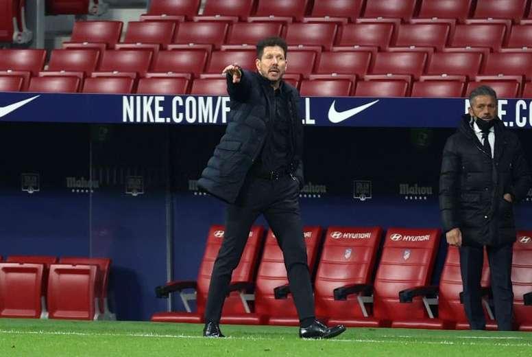 Simeone mandó un mensaje tras ganar al Sevilla. EFE
