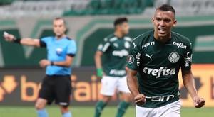 Gabriel Verón, um dos grandes destaques do Palmeiras. EFE/Sebastiao Moreira/Arquivo
