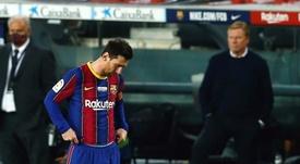 Messi é colocado fora da semifinal e também da final da Supercopa. EFE/Enric Fontcuberta