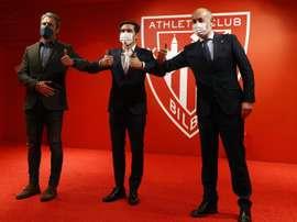 Athletic's trophy win left sporting director Rafa Alkorta more than happy. EFE
