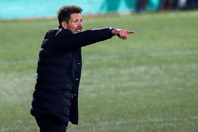 Simeone analizó al Sevilla y dio novedades sobre Moussa Dembélé. EFE