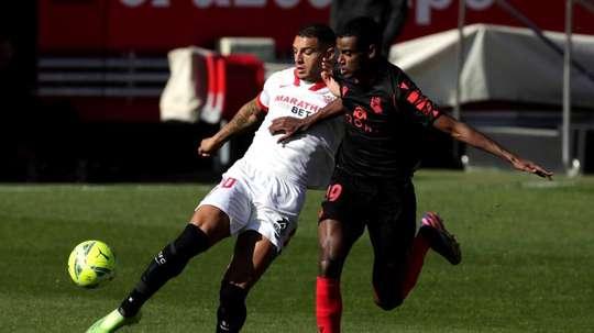 Diego Carlos has been a key player at Sevilla. AFP