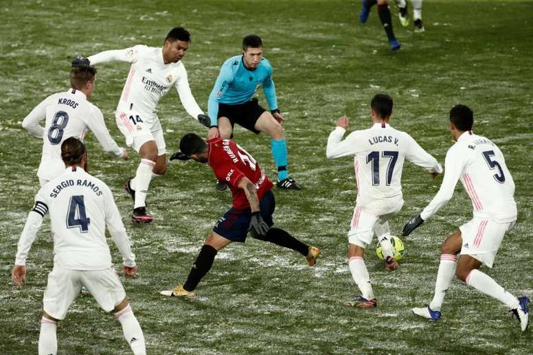 Osasuna refroidit le Real Madrid. AFP