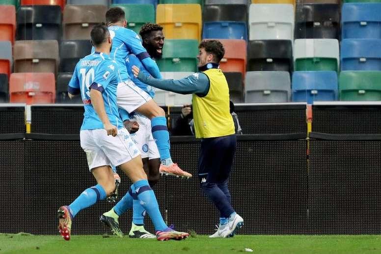 El Nápoles se ha reconciliado con la victoria en Udine. EFE/EPA