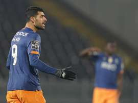 Mehdi Taremi marcou o único gol do Porto sobre o Farense. EFE/EPA/HUGO DELGADO/Arquivo