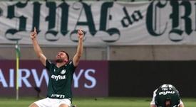 Palmeiras ganó 4-0 a Corinthians. Archivo/EFE