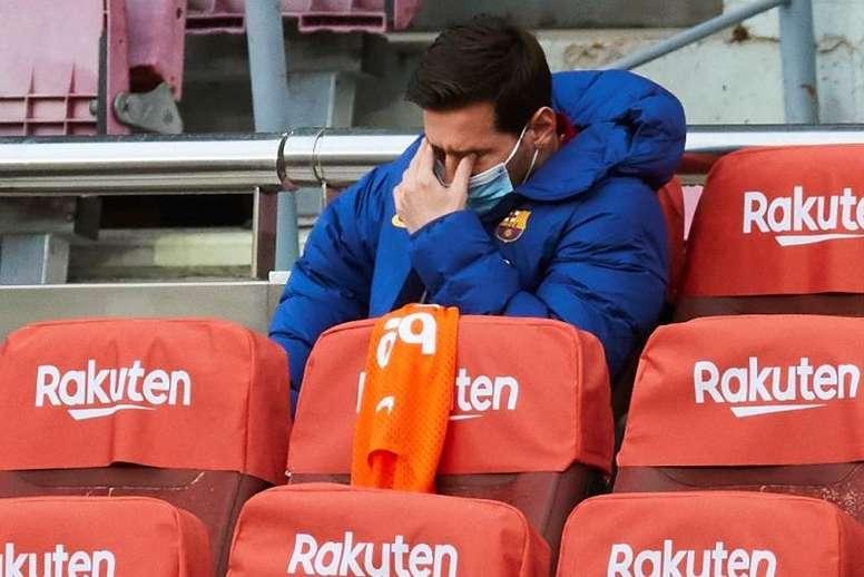 Los servicios médicos son pesimistas con Messi. EFE