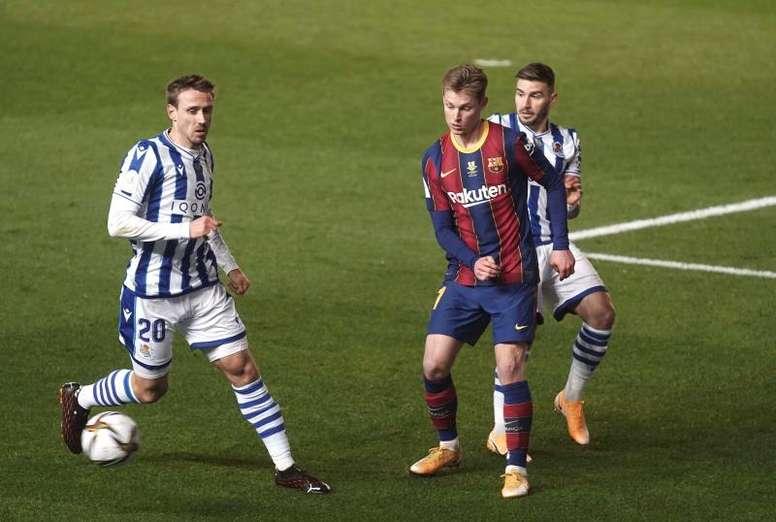 Barça está na final da Supercopa da Espanha após decisão nos pênaltis. EFE/ Rafa Alcaide