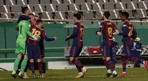 Les compos probables du match de Coupe du Roi entre Cornella et le Barça. EFE