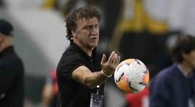 Cuca prepara o Santos para a final do dia 30 de janeiro. EFE/Guilherme Dionizio/Arquivo