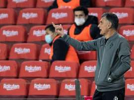 José Luis Mendilibar was not happy with his teams performance. EFE