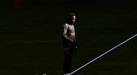 Dembélé laisse une bonne impression pour ses premiers jours à l'Atlético. EFE