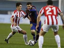 Messi ya ha cumplido su sanción de dos partidos. EFE
