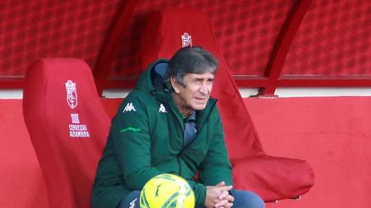 Betis coach Manuel Pellegrini spoke about the game. EFE