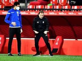 Arrasate confía en firmar un buen papel ante el Valencia. EFE
