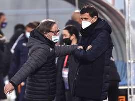 Javi Gracia dijo no ser escéptico con las promesas del club. EFE