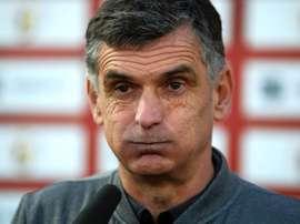 Mendilibar habló en la previa de su partido contra el Atlético. EFE