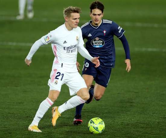 Martin Odegaard has been linked with a loan to Arsenal. EFE