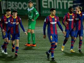 Two Cornellà players test positive after their match against Barca. EFE