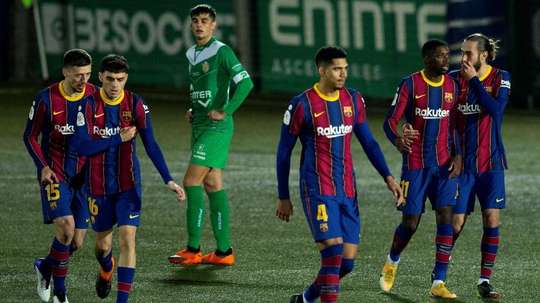 Jogador que esteve no Cornellà-Barcelona testou positivo. EFE/Enric Fontcuberta