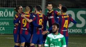 El Barça se olvida del Camp Nou. EFE