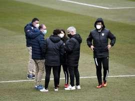 El Real Madrid-Logroño, suspendido. EFE