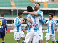 El gol tempranero del mexicano Lozano no sirvió de nada. EFE