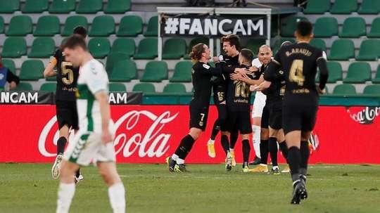 Le groupe du FC Barcelone pour affronter le Rayo en Coupe. EFE