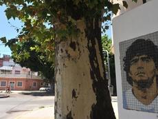 Argentina se llena de murales de Maradona: el primero, cerca de la Bombonera. EFE