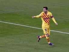 La UEFA aplaudió al Leo más goleador. EFE