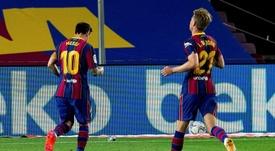 Iraola se rindió a Messi y De Jong. EFE