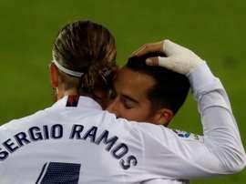 Lucas y Ramos se ejercitaron al margen. EFE