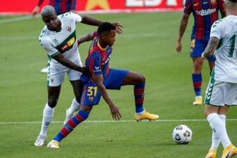 El Barça trabaja para llegar a un acuerdo con Mendes para la renovación de Ansu Fati. EFE/Archivo