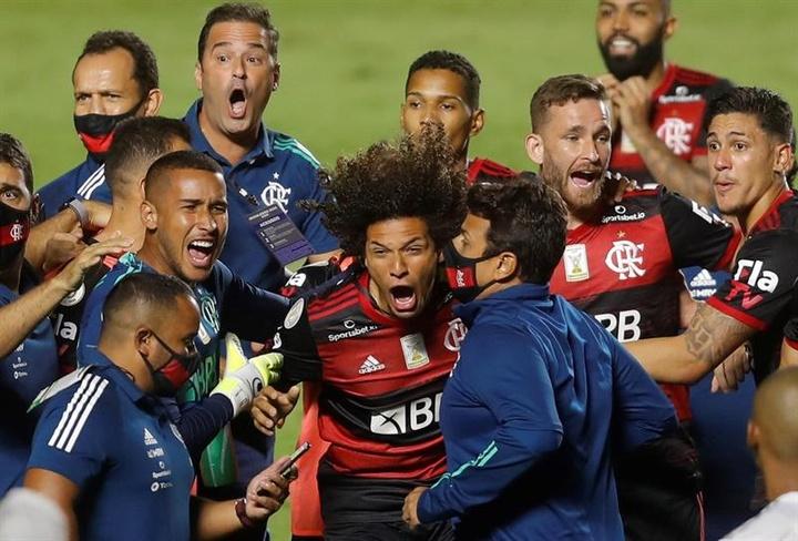 Flamengo estreia na Libertadores com virada na Argentina. EFE/Fernando Bizerra/Arquivo