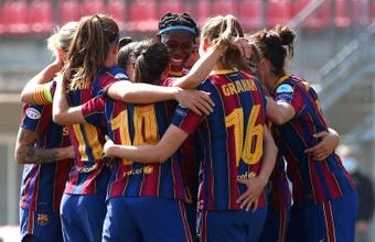 El Barça superó 3-0 al City en la ida de los cuartos de final de la Champions. EFE/EPA