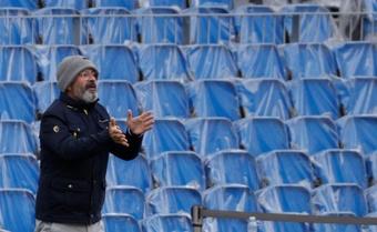 Cervera destacó la importancia de la victoria del Cádiz. EFE