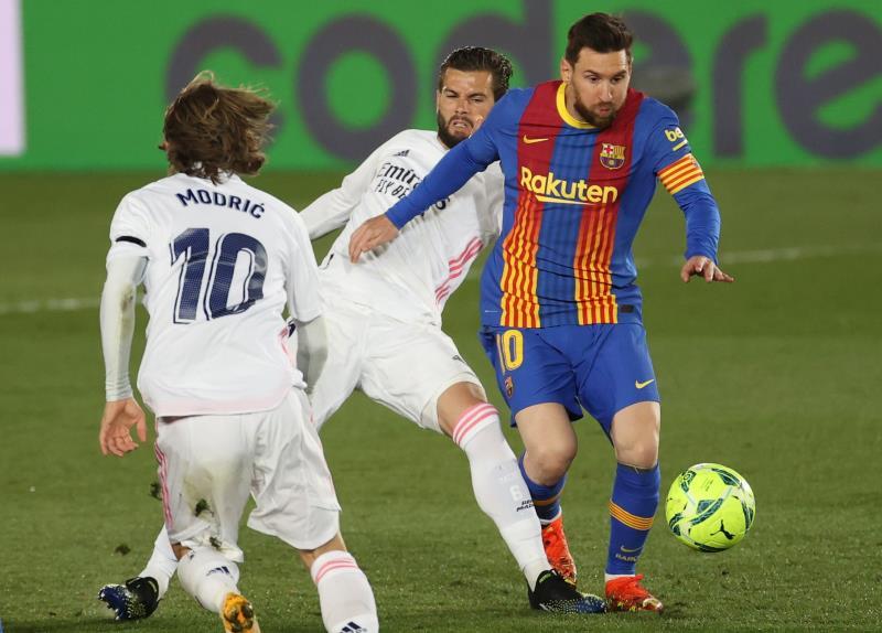 Messi, en el 'Clásico'