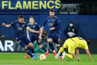 Arijan Ademi (i) hizo dos de los tres goles del Dinamo de Zagreb al Valur. EFE/Archivo