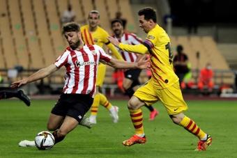 Yeray relembrou a final da Copa do Rei 2020-21. EFE/ Julio Muñoz