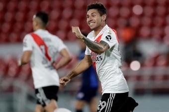 Montiel salió de River Plate para fichar por el Sevilla. EFE/Archivo