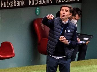 Marcelino evitou dar 'spoilers' da ausência de Íñigo Martínez. EFE