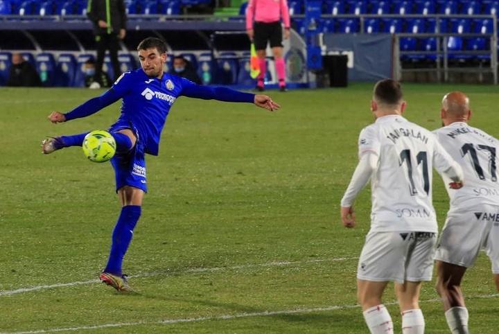 O Barça pensa em tirar Arambarri do Getafe. AFP
