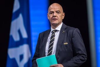 El presidente de la FIFA, el suizo Gianni Infantino. EFE/ Christophe Petit Tesson/Archivo